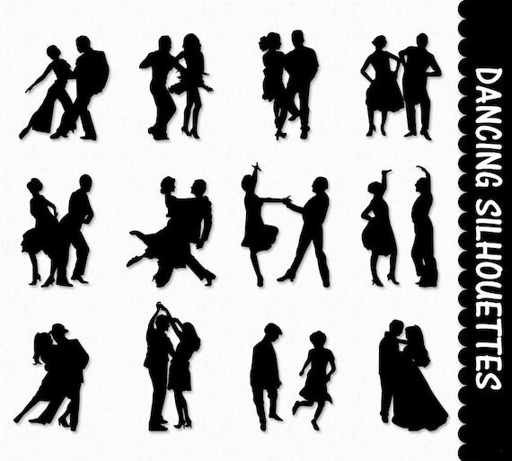 dancers clip art graphics dancing people clipart scrapbook etsy