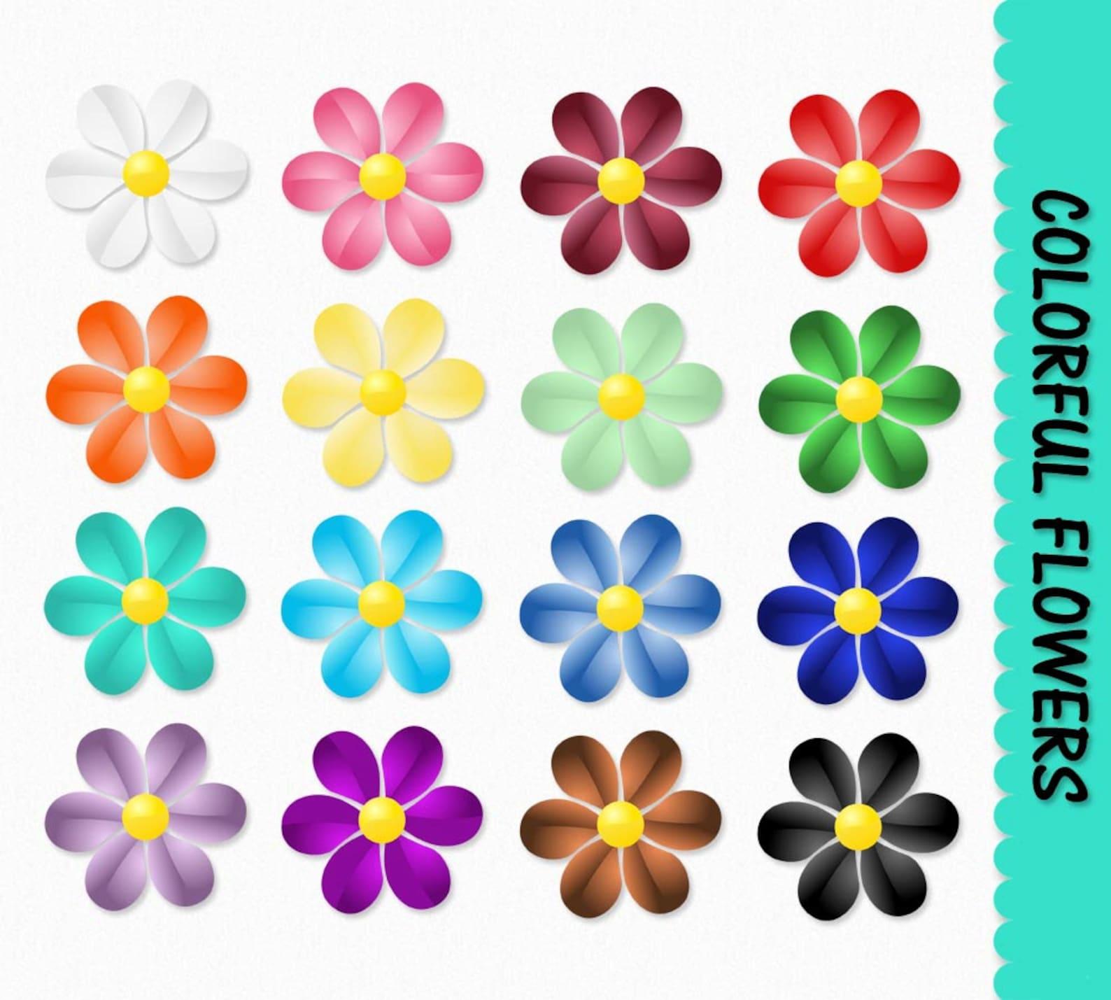 Днем, цветы картинки цветные для оформления распечатать и вырезать