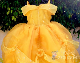 Princess Belle dress for Birthday costume or Photo shoot Belle dress outfit Birthday dress Belle costume Princess dress for Birthday party