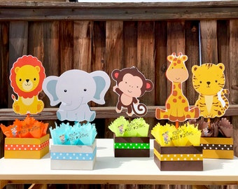 safari baby shower centerpiece etsy