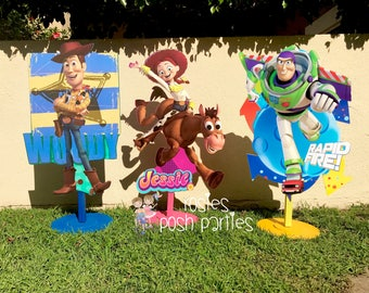 Toy Story Birthday Photo prop birthday party wood table centerpiece decoration Buzz Woody Jessie Photo Prop PRICE PER PIECE