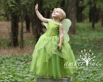 Tinkerbell Fairy dress for Birthday costume or Photo shoot Tinkerbell dress outfit Birthday dress costume Princess dress for Birthday party  sc 1 st  Etsy & Tinkerbell outfit | Etsy