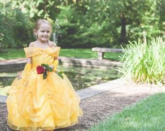 b1f521352d4 Princess Belle dress for Birthday costume or Photo shoot Belle dress outfit  Birthday dress Belle costume Princess dress for Birthday party