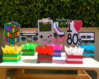 I love the 80s birthday bash party centerpieces 80s party decoration 80s birthday I love the 80s centerpiece party favors PRICE PER PIECE & 80s party | Etsy