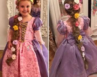 Tangled Rapunzel dress for Birthday costume or Photo shoot Tangled dress outfit Birthday dress costume Princess dress for Birthday party  sc 1 st  Etsy : rupunzel costume  - Germanpascual.Com