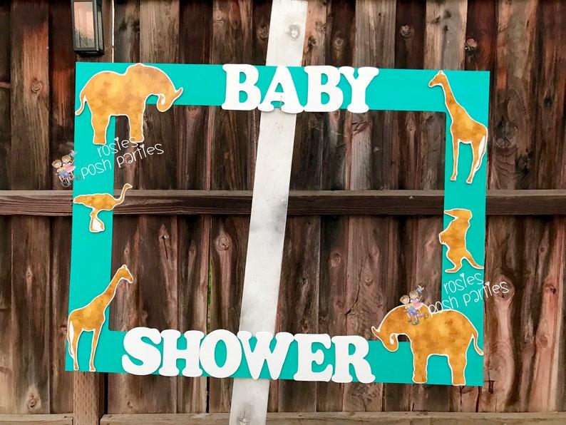 Gold Safari Baby Jungle Baby Shower frame First Birthday 1st birthday photo booth birthday Gold Safari or photo prop decoration Prop Frame