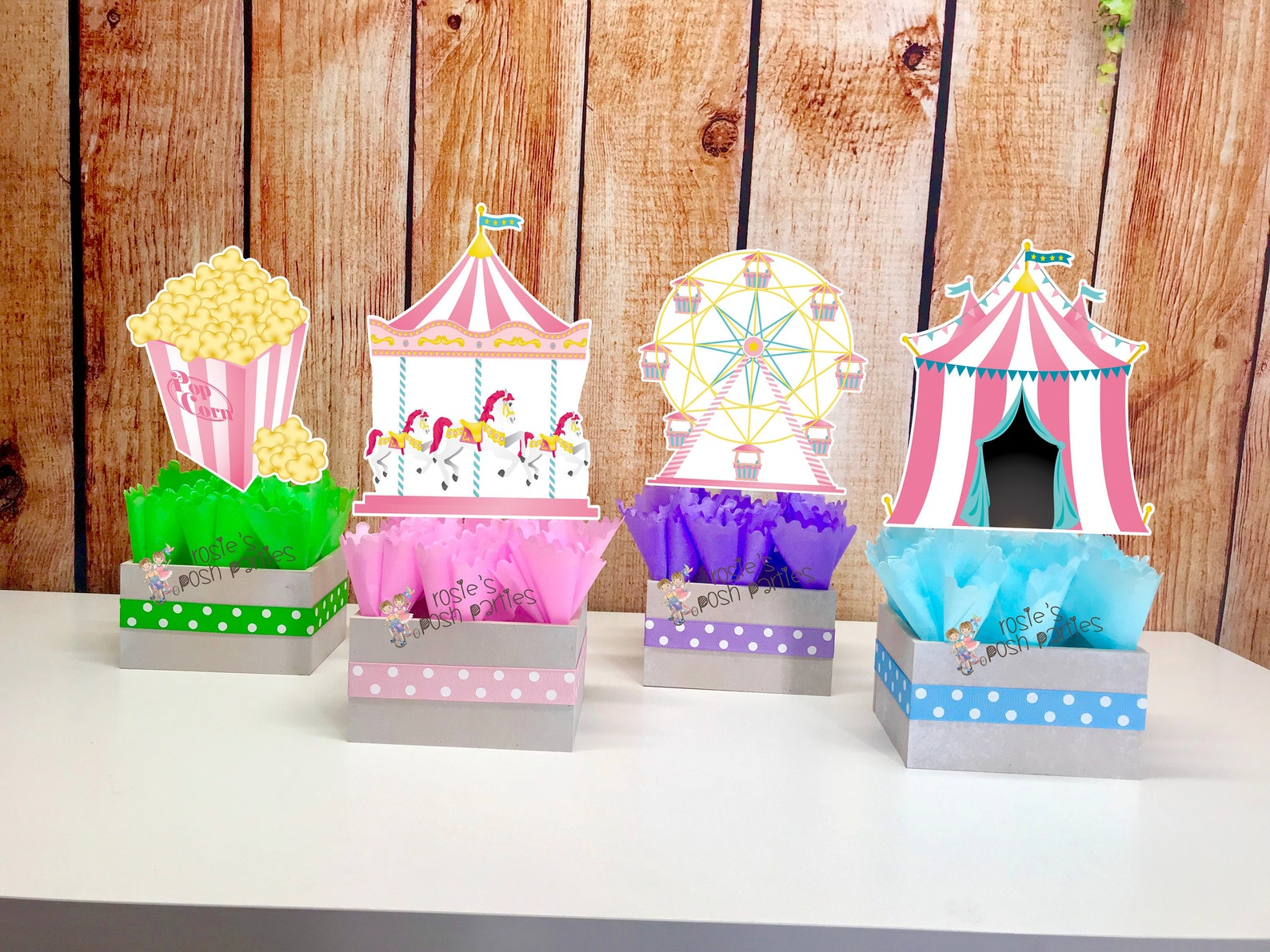 Circus Party Centerpieces Page Two