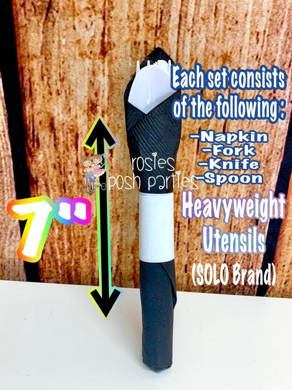 50/'s Birthday Party 50s Theme SET OF 12 50s Party Favors 50/'s Birthday Theme Napkin Wrapped Utensil Favors 50s Theme Decoration