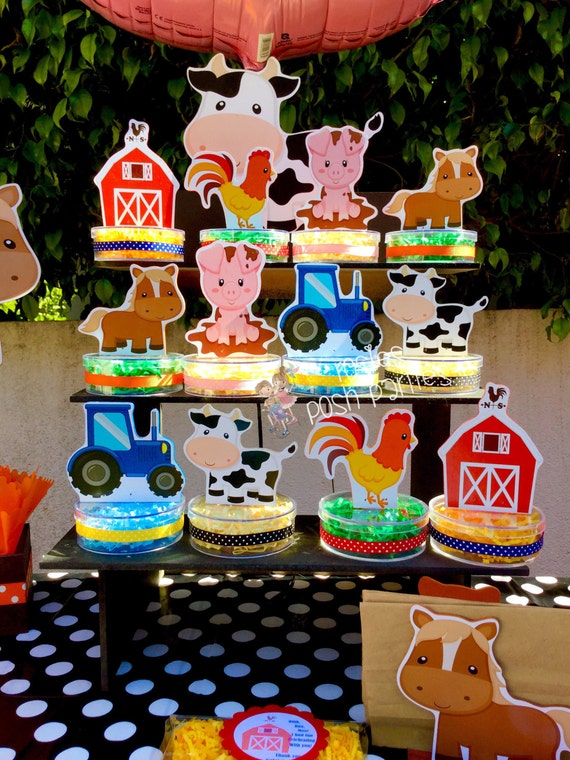 Farm Animals Birthday Party Candy Treat Jars For Gift Favor Or Raffles Theme Favors SET OF 12