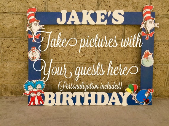 Dr Seuss Photo Frame Booth Baby Shower Birthday Party Picture Etsy