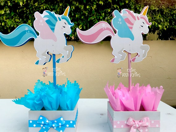 Unicorn Centerpiece Party Guest Or Main Table Decoration Birthday Baby Shower