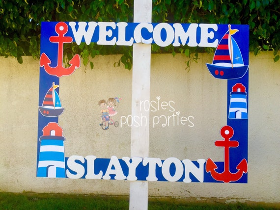 Nautical Baby Shower Photo Booth Nautical Birthday Party Etsy