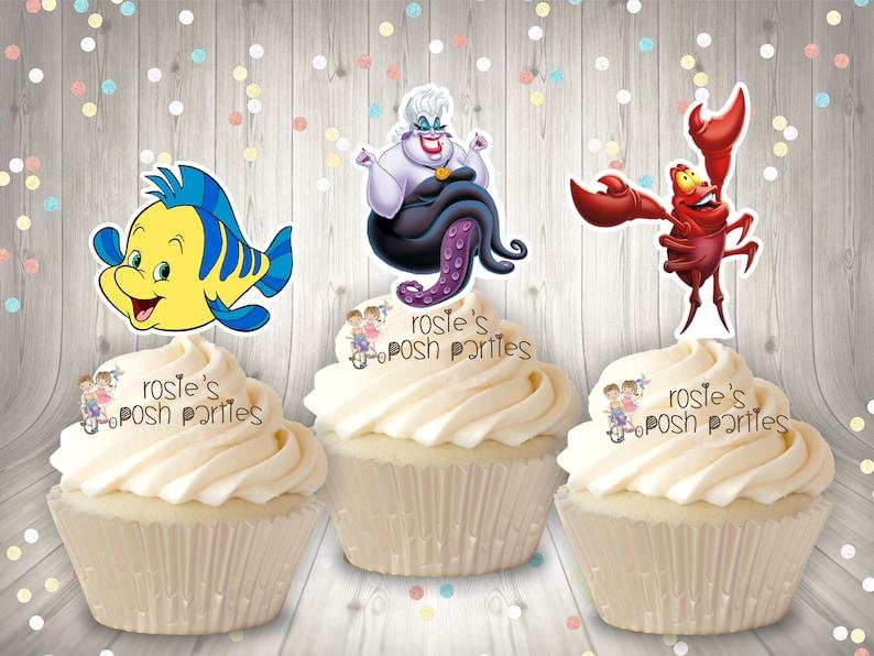 Mermaid Theme Party SET OF 12 Little Mermaid Birthday Cupcake Favor Under the Sea Theme Mermaid Cupcake Topper Favor Mermaid Theme