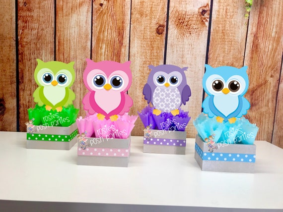 Owl Baby Shower Centerpiece For Guest Table Owl Centerpiece
