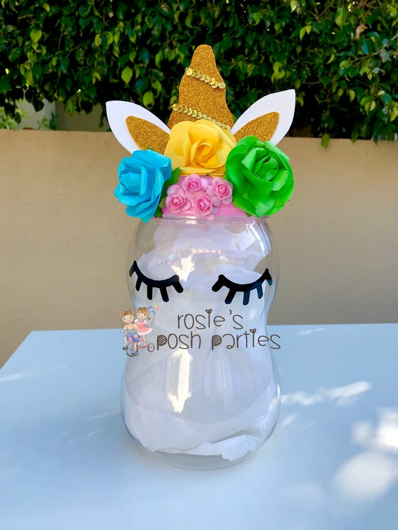 Unicorn Centerpiece Baby Shower Birthday Gift Card Holder Game Box Party Favor