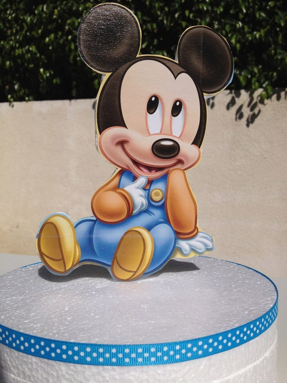 Miraculous Baby Mickey Mouse Cake Topper For Baby Shower Or 1St Birthday By Personalised Birthday Cards Petedlily Jamesorg