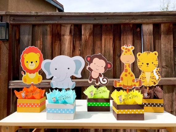 Jungle Baby Shower Theme Centerpiece Baby Shower Party Decoration Baby  Shower Jungle 7st Birthday Giraffe Elephant Monkey Safari INDIVIDUAL