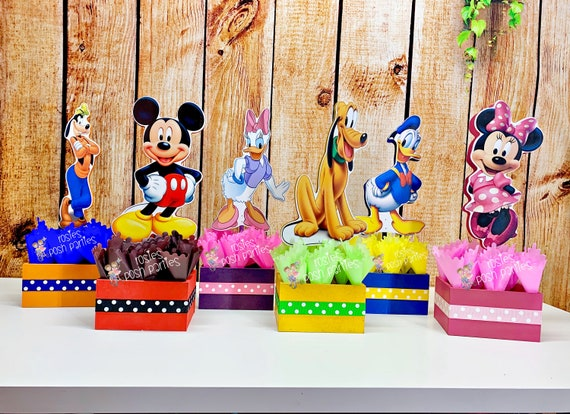 Superb Mickey Mouse Clubhouse Birthday Party Wood Guest Table Centerpiece Funny Birthday Cards Online Hendilapandamsfinfo