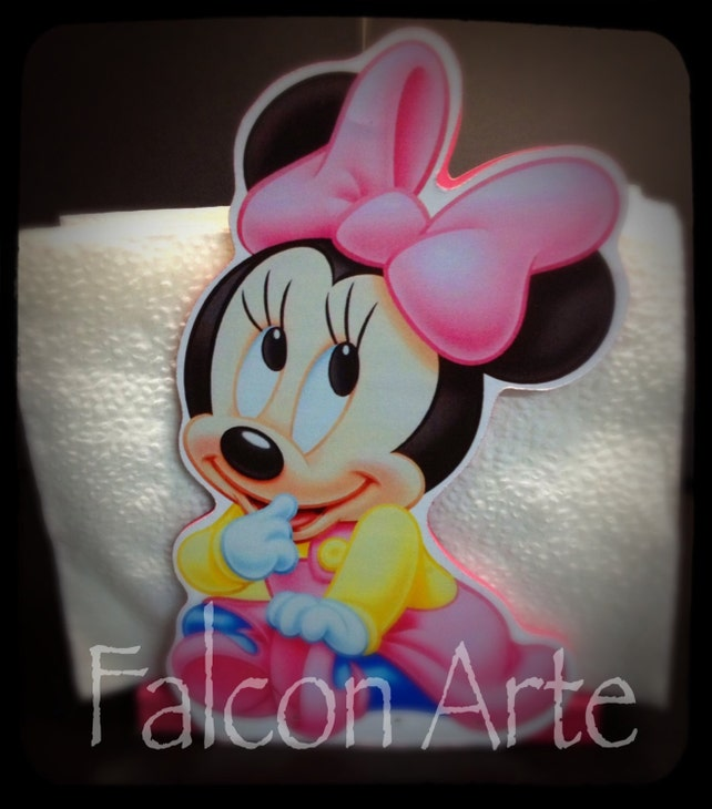 Baby Minnie Mouse Baby Shower Or Birthday Napkin Ring Holder Favor