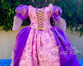 Tangled Rapunzel dress for Birthday costume or Photo shoot Tangled dress outfit Birthday dress costume Princess dress for Birthday party