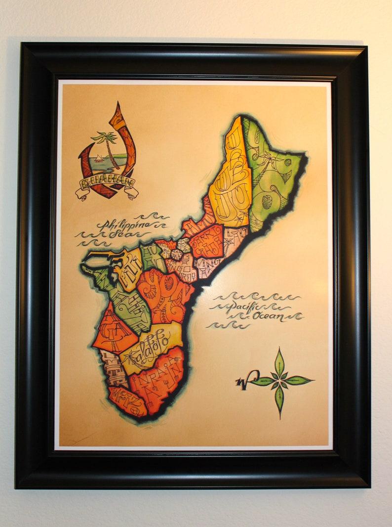 Map of Guam Guahan 18x24 image 0