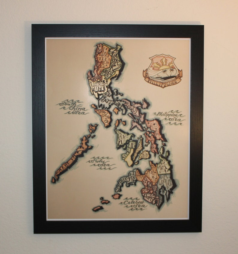 Map of the Philippines The Mother Island 16x20 image 0