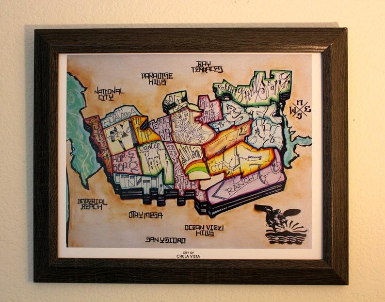 Chula Vista Map 11x14 image 0