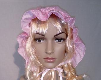 Toutes les Tailles £ 45 Adulte Bébé Sissy Robe Cosplay ABDL vichy froncé fantaisie Bonnet