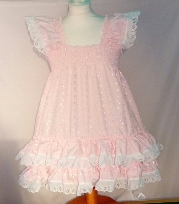 ALL SIZES £35 Adult Baby Sissy Frilly Top Short Dress Cross cosplay maid fancy