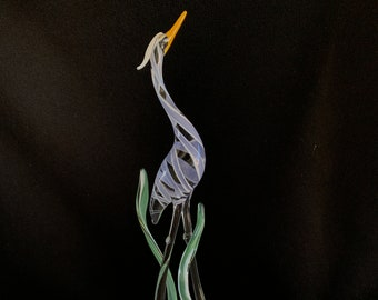 Heron (Large) Handblown Glass Sculpture
