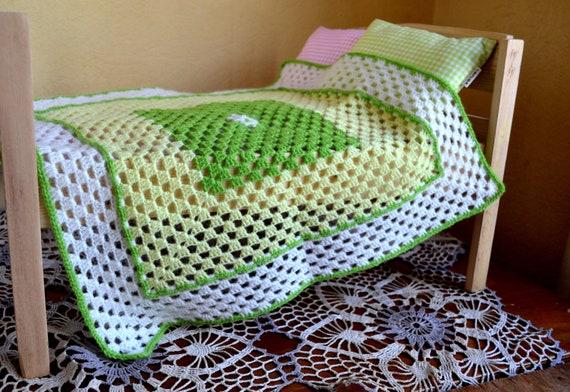 Hand Crocheted Doll Blanket Size 19x 19 48x48 Etsy
