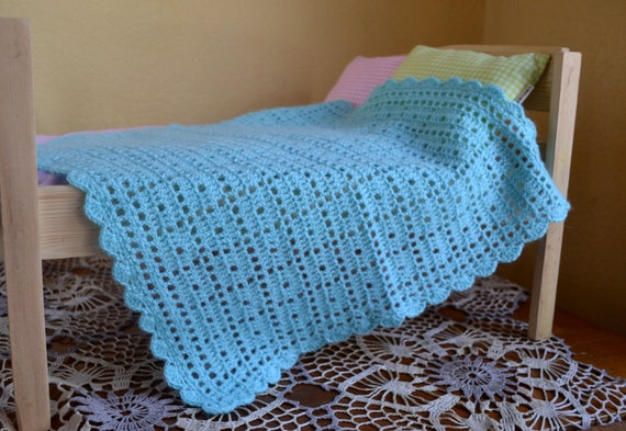 Hand Crocheted Doll Blanket Size 17x 17 43x43 Etsy