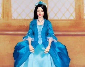 FID Iplehouse - exclusive Carribean Blue rococo ball gown dress