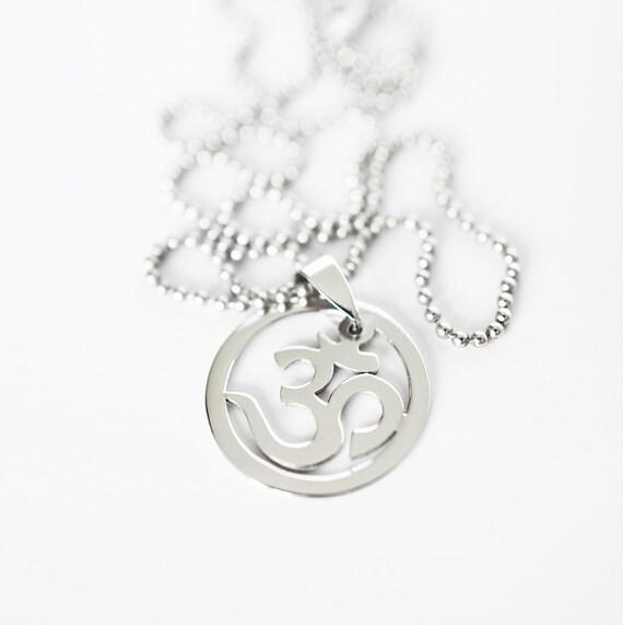 Yoga Necklace Om Symbol Yoga Jewelry Meditation Necklace Om Etsy