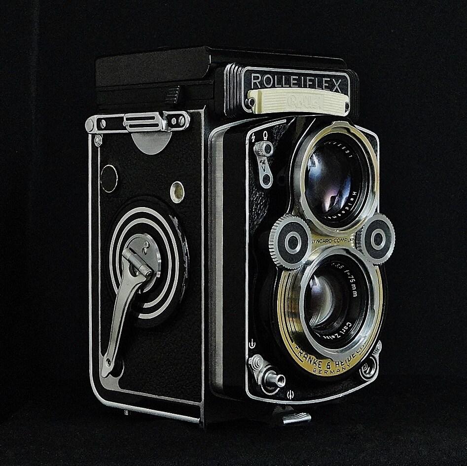 Vintage ROLLEIFLEX 3.5 F Model 1 K4E TLR Film Camera | Etsy