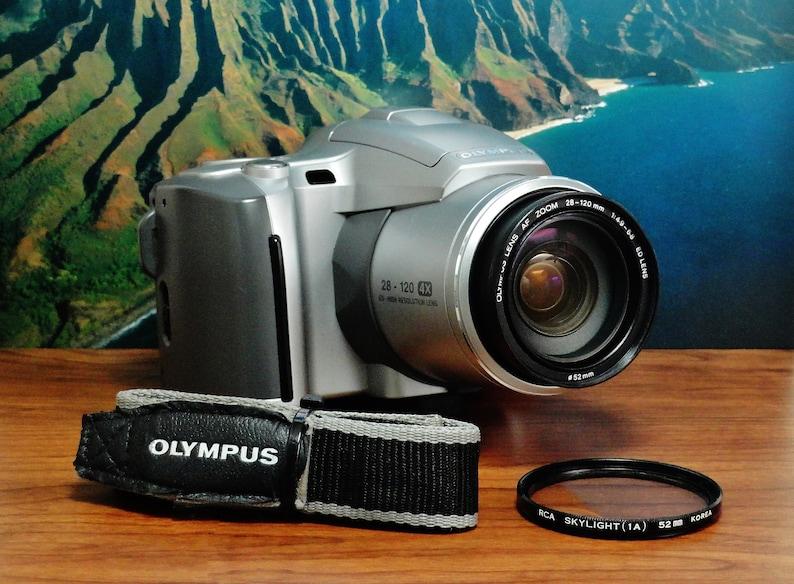 Vintage OLYMPUS iS-50 35mm Single-Lens-Reflex Film Camera, Olympus ED  28~120 f/4 9~6 8 Auto Focus Zoom Fixed Lens, Circa: 1999, Great Shape!