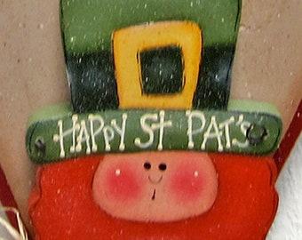 Seasonal Welcome Door Hanger Leprechaun Welcome Sign Interchangeble Door Sign Wood Leprechaun Seasonal Yard Art Outdoor Leprechaun Sign Art