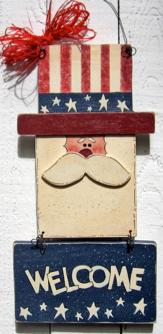 Uncle Sam Door Hanger Wall Hanger 4th Of July Door Hanger