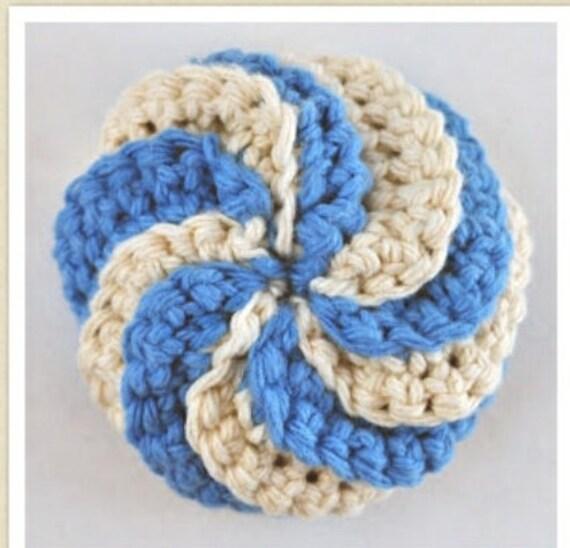 Crochet TawashiCrochet Scrubbiecrochet Spiral Etsy Impressive Crochet Spiral Scrubbies Pattern