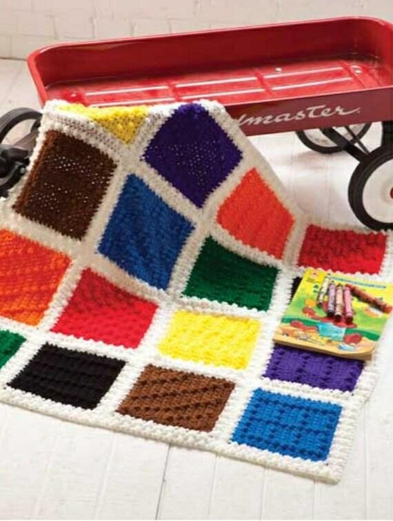 Buntstift Decke/häkeln afghanischen/Crochet | Etsy