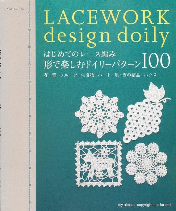 100 Spitzen Entwurf Deckchen Motiv Häkelanleitungen   Etsy