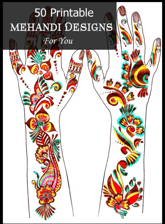 50 Henna Designs Ebook Mehndi Pattern Book With 50 Handmade Henna Designs Mehndi Designs Indian Mehndi Indian Henna Tattoo