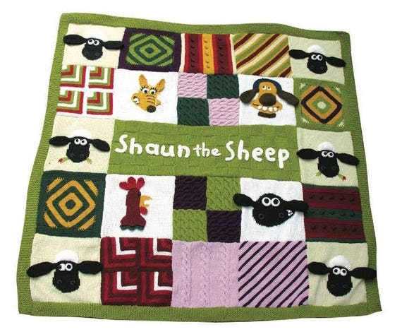 Shaun das Schaf-Picknick Decke /knitting afghanisch/häkeln