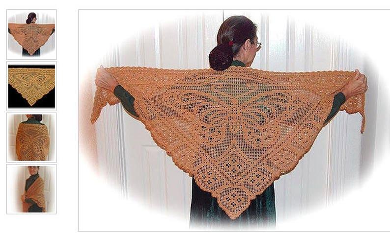 Viceroy butterfly shawlcrochet laceworkknitting shawlfilet crochetjapanese ebookcrochet shawlKnitting stolcrochet accessories