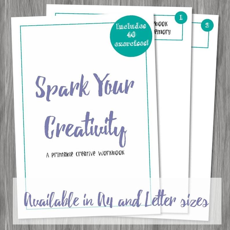 Spark Your Creativity  Printable Creative Workbook Instant image 0