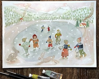 Snow day  – A4 print