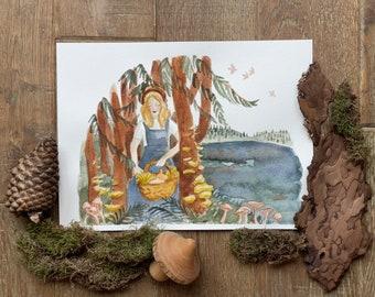 Autumn foraging – A4 print