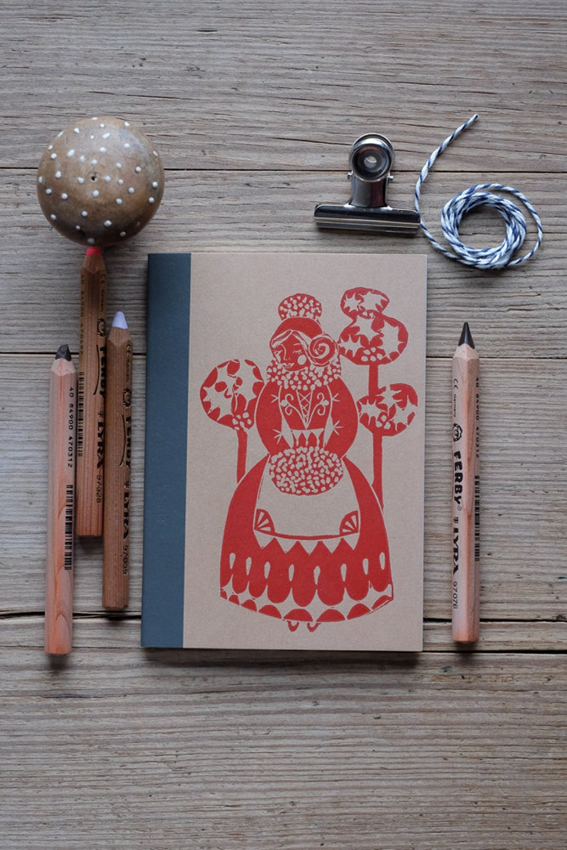 Anouska Festive Handprinted notebook image 0