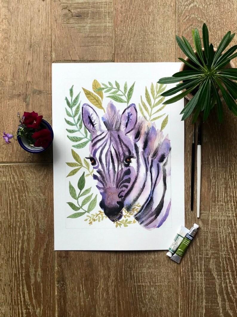 Zebra  A4 print image 0