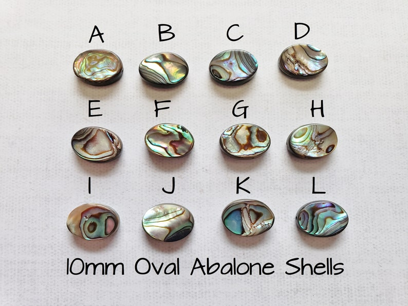 Nautical Jewelry Blue Green Abalone Shell Ring Shiny Oval Abalone Rings Ocean Gift